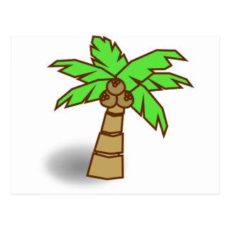 Palm Tree Drawing Postcard
