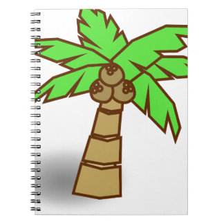 Palm Tree Drawing Spiral Notebook