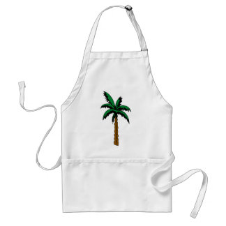 Palm Tree Drawing Standard Apron
