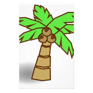 Palm Tree Drawing Stationery