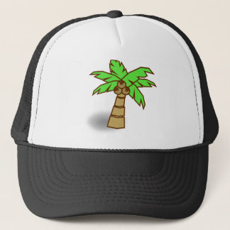 Palm Tree Drawing Trucker Hat