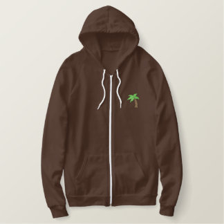 Palm Tree Embroidered Hoodie