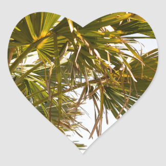 Palm Tree from the East Coast famous Myrtle Beach Heart Sticker