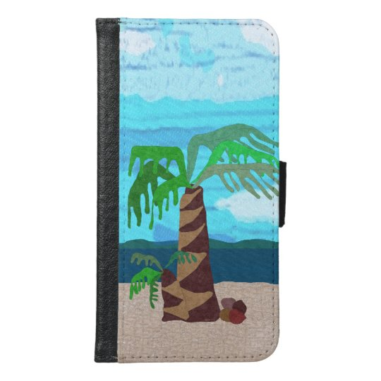 Palm Tree Galaxy S6 Wallet Case