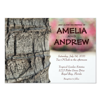 Palm Tree Garden Tropical Wedding Card