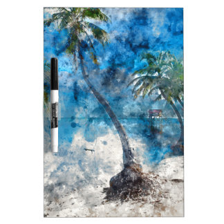 Palm Tree in Ambergris Caye Belize Dry Erase Board