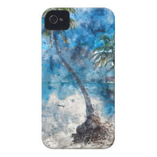 Palm Tree in Ambergris Caye Belize iPhone 4 Cover