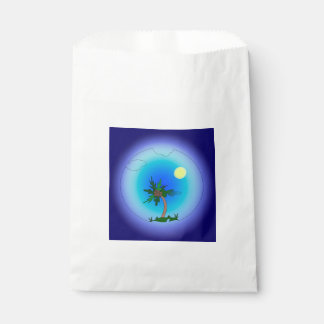 Palm tree in the sea favour bag