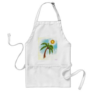 Palm Tree In The Sun Standard Apron