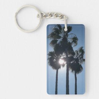 Palm Tree Double-Sided Rectangular Acrylic Keychain