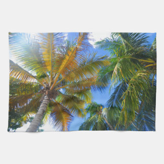 Palm tree kitchen towels