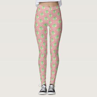 Palm Tree Leggins- Pretty Pink Polka Dots Leggings