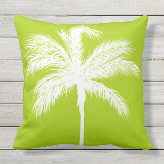 Palm Tree Lime Throw Pillow