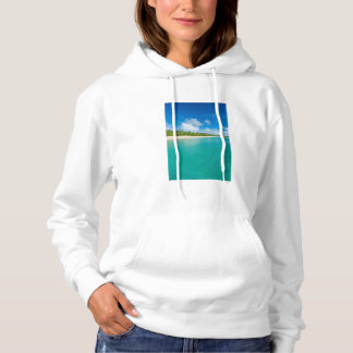 Palm tree lined beach, Tonga Hoodie