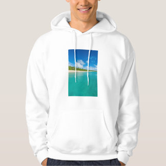 Palm tree lined beach, Tonga Hoodie