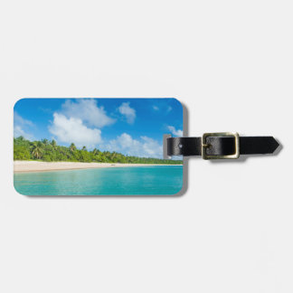 Palm tree lined beach, Tonga Luggage Tag