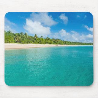 Palm tree lined beach, Tonga Mouse Pad