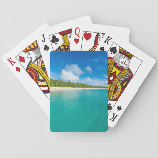 Palm tree lined beach, Tonga Playing Cards