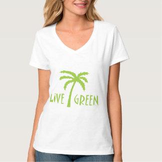Palm Tree Live Green T-shirt