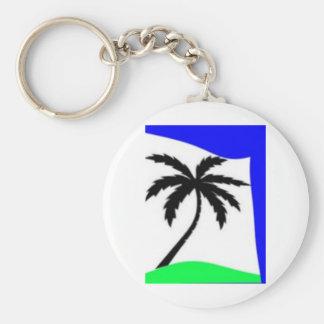 palm tree love key chain