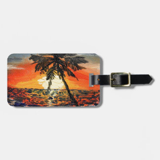 Palm Tree Luggage Tag