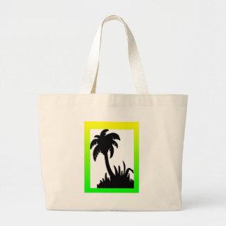 palm tree merchandise large tote bag