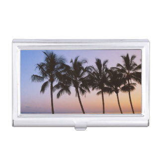 Palm tree, morning business card holder
