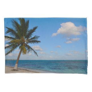 Palm Tree on a Beach Pillowcase