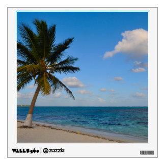 Palm Tree on a Beach Wall Sticker
