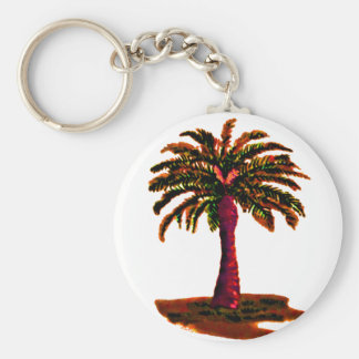 Palm Tree Orange The MUSEUM Zazzle Gifts Key Chain