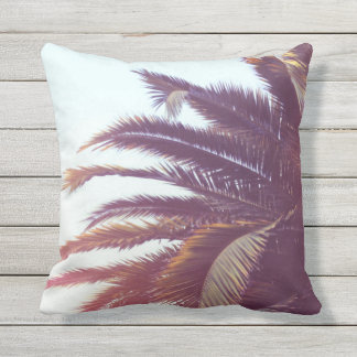 Palm tree outdoor pillow