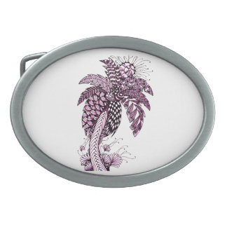 Palm Tree Oval Belt Buckle
