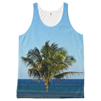 Palm Tree Over The Ocean All-Over-Print Tank Top