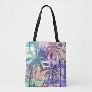 Palm Tree Pattern custom monogram bags