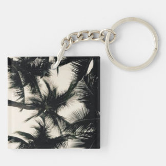 Palm Tree photograph Double-Sided Square Acrylic Keychain