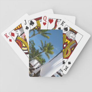 palm tree playing cards
