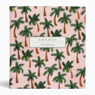 Palm Tree Print Custom Binder