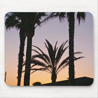 Palm Tree Purple Sunset Photography Mouse Pad