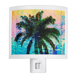 Palm Tree Reflection Night Light