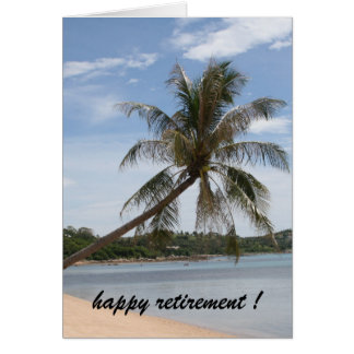 palm tree retirement card