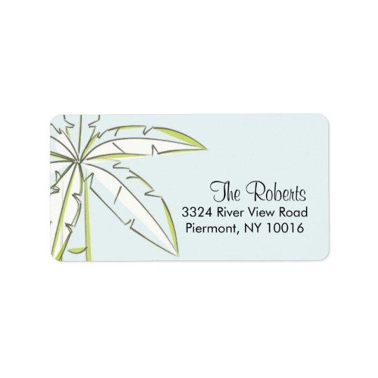 Palm Tree Return Address Labels.
