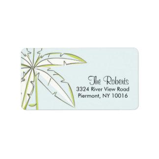 Palm Tree Return Address Labels. Label