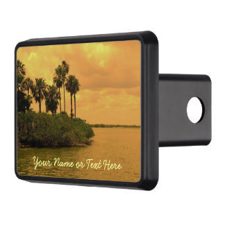 Palm Tree Reverie Custom Trailer Hitch Cover