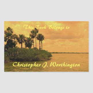 Palm Tree Reverie Personalized Bookplate