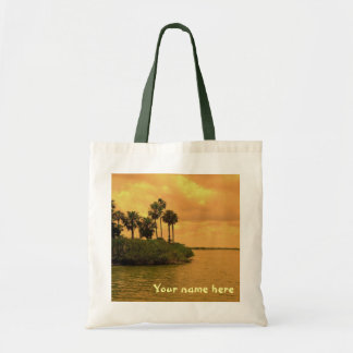 Palm Tree Reverie Personalized Tote Bag