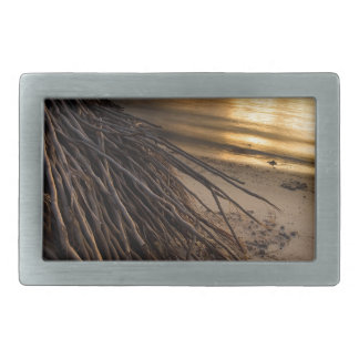 Palm Tree Roots at Sunset Rectangular Belt Buckle