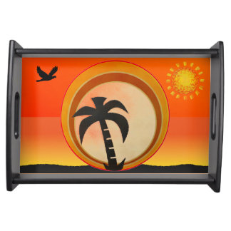 Palm Tree Serving Tray