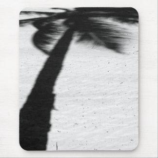 palm tree shadow on beach mouse pad