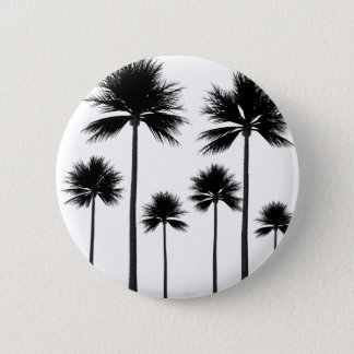 Palm Tree Silhouette 2 Inch Round Button
