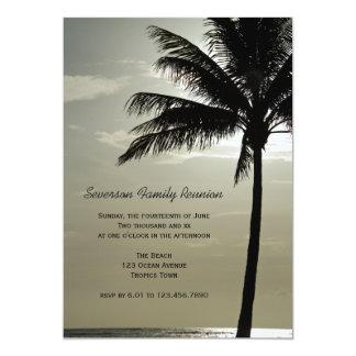 Palm Tree Silhouette Family Reunion Invitation
